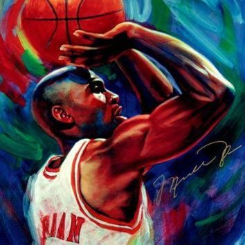CREYUG7 Michael Jordan Chicago Bulls Art NBA Basketball Silk Poster Art Bedroom Decoration 143
