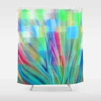 Growth 6 Shower Curtain by Jen Warmuth Art And Design