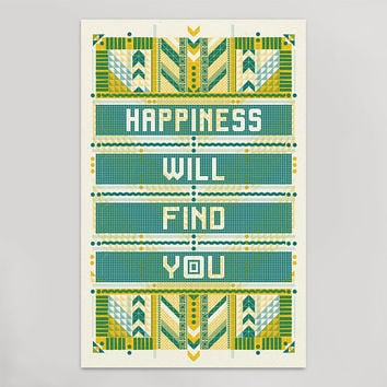 Happiness Will Find You Print (11x17)
