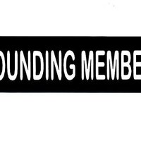 Motorcycle Helmet Sticker - FOUNDING MEMBER Helmet Sticker