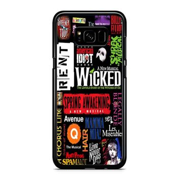 Famous Broadway Musiacal Plays Collage Samsung Galaxy S8 Case