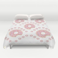 Dreams Of Donuts Duvet Cover by Kathleen Sartoris