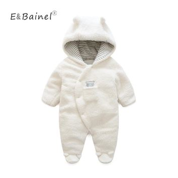 Winter Rompers Thick Climbing New Born Baby Clothes Bear Newborn Boys Girls Warm Baby Romper Costume Jumpsuit Baby Snowsuit