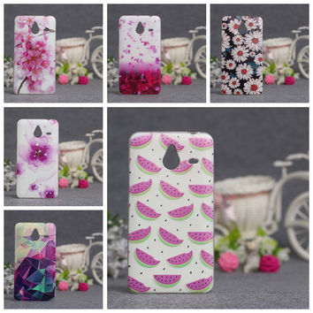 For Nokia Lumia 640 XL Case Ultra Thin TPU Cover 3D Embossed Painting Soft Silicone Phone Case Cover For Microsoft Nokia 640xl