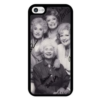 The Golden Girl Black Sign iPhone 5/5S/SE Case