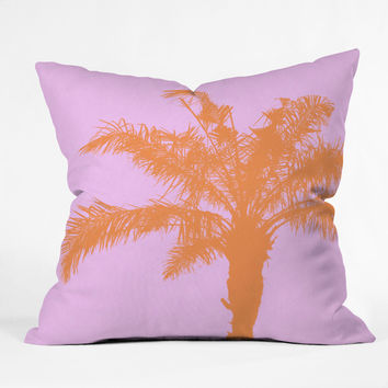 Deb Haugen Orange Palm Outdoor Throw Pillow