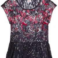 Lace Floral Top | Girls {category} {parent_category} | Shop Justice