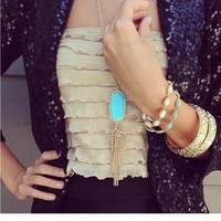 Rayne Necklace in Turquoise - Kendra Scott Jewelry
