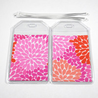 Luggage Tags Set of 2 Sassy Floral