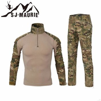 Outdoor Military Uniform Multicam Army Combat Shirt Uniform Hunting Tactical Camouflage Suit Hunting Frog Clothes