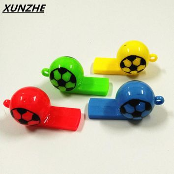 10pcs / plastics whistle World Cup Sports Meet Referee Sports Whistle  Increase Party Atmosphere Production Pet training supplie