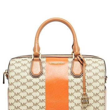 Michael Michael Kors Women's Mercer Central Stripe Bag Orange