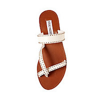 Leather Toe Ring Sandals in Cognac   Steve Madden AVEERY