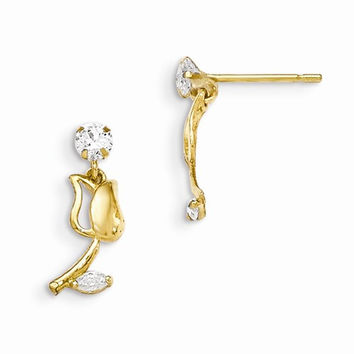 14k Madi K Tulip Dangle Post Earrings