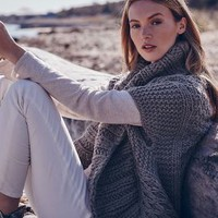 Handknit Cable Cardigan by Anthropologie