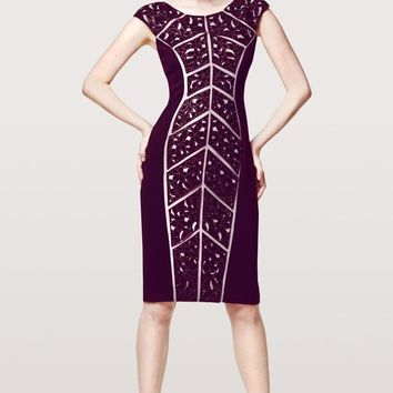 Daymor Couture - 157 Shining Sequined Cutout Bodycon Dress