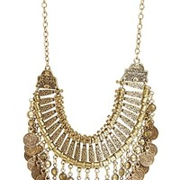 DailyLook: Natalie B Fit For a Queen Necklace in Brass