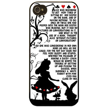 ALICE IN WONDERLAND PRETTY PATTERN STORY ART FOR IPHONE 4 4S 5 5S 5C 6 6S 6PLUS 6S PLUS