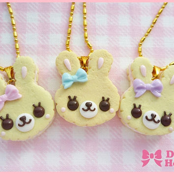 Sweet Cookie Bunny  Necklace by Dolly House