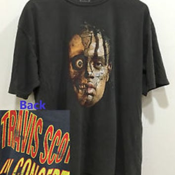 Travis Scott rodeo tour merch Gildan washed black t - shirt sz. XL