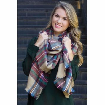 2413e523f Best Camel Plaid Scarf Products on Wanelo