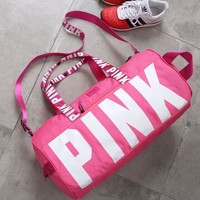 Tagre™ PINK Victoria'S Secret Sports And Fitness Yoga Short Travel Bag