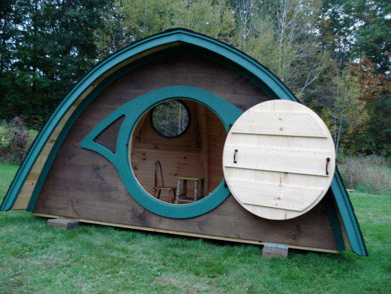 3 wooden hobbit hole playhouse from hobbitholes on for How to build a hobbit hole playhouse