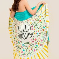 """Hello Sunshine"" Beach Towel Blanket"