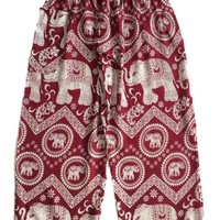 Red Circle Elephant Pants