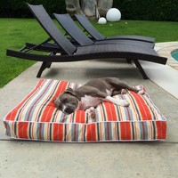 Outdoor Stripe Floor Pillow