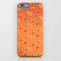Peach Pattern iPhone & iPod Case by Paula Oliveira