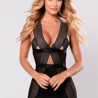Forever And Always Chemise - Black
