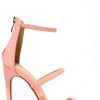 Three Love Blush Pink Dress Sandals
