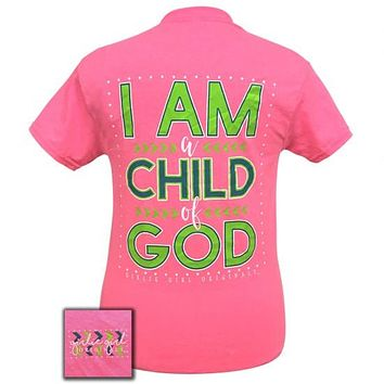 Girlie Girl Preppy I Am A Child of God T-Shirt