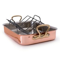 Mauviel M'heritage M'150s Copper Tri-Ply Roaster with Rack | Nordstrom