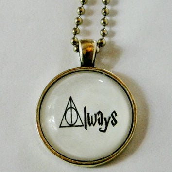 Deathly Hallows Always Necklace. Fandom Necklace. 18 Inch Chain.