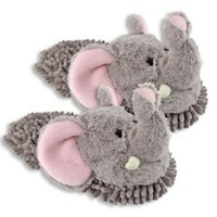 Women's Comfy Soft Elephant Slip-On Slippers, One Size Fits Most To Size 9.5