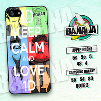 One Direction, Keep Calm, Band, iPhone 5 case, iPhone 5C Case, iPhone 5S case, Phone case, iPhone 4 Case, iPhone 4S Case, Phone Skin, OD09