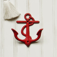 Anchor Wall Hook, Choose your Color, Anchor Coat Hook, Nautical Wall Hooks, Cast Iron Wall Hooks, Cast Iron Coat Hooks, Beach Decor