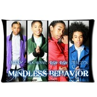 Best Mindless Behavior Group Pillow Cases - One Side Rectangle Pillowcase Pillow Cover Size 20x26 inch.