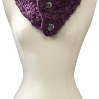 Vince Camuto Women's Tuck Stitch Neckwarmer, Purple, One Size