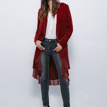 HiLo Velvet Long Layer Jacket - 2 Colors