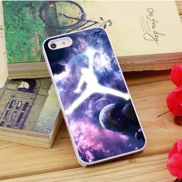 Michael Jordan In Galaxy Nebula iPhone 5|5S|5C Case Auroid