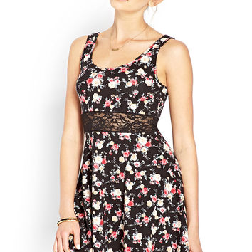 Fawning for Floral Lace Dress