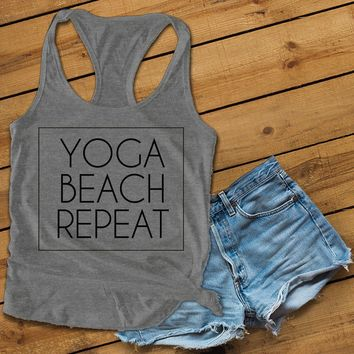 YOGA BEACH REPEAT Women's Ideal Racerback Tank