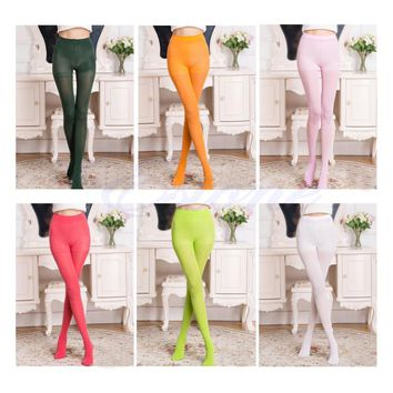 Fashion Opaque Footed Tights 100D Slim Elastic Sexy Women's Pantyhose Stocking