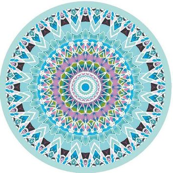 Classic Summer Beach Throw Towel Indian Mandala Round Elephant Tapestry Wall Hanging Yoga Mat Decorative Round Beach Cover Ups