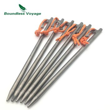 Boundless Voyage Outdoor Camping Titanium Tent Pegs Ultralight Tent Stakes Nail Tent Accessories