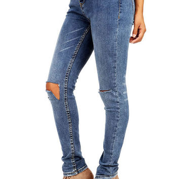 Cutting Corners Mid-Rise Ankle Skinny Jeans