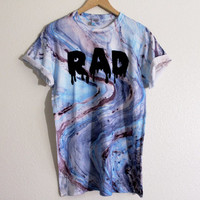 Made to Order blue marble RAD shirt